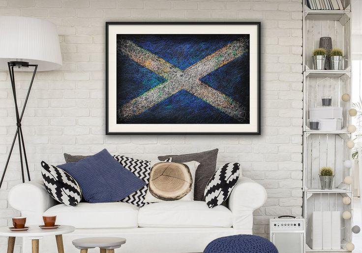 Amazing Flag of Scotland. Scottish Flag.