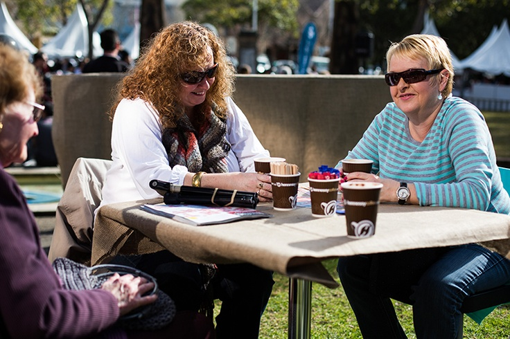 We encourage a certain amount of loitering at our coffee festival...