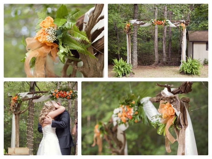 Rustic Arbor for Outdoor Backyard DIY Wedding