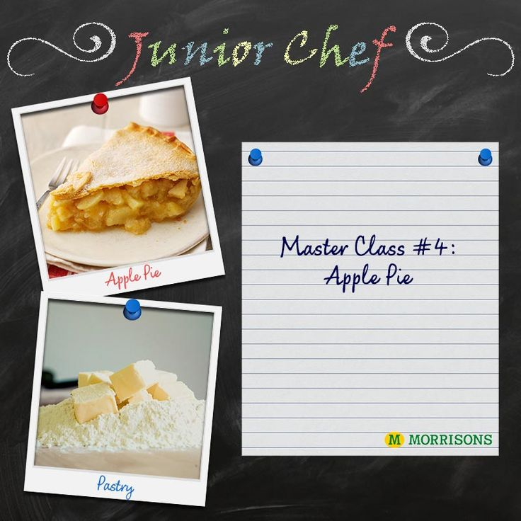 They may be the apple of your eye, but it can be difficult to keep your angels busy over #HalfTerm. Day four of our #JuniorChef Masterclasses brings you boredom busters in the form of perfect pastries! Have a go at making an apple pie, or simply just enjoy some pastry decorating with your kids this half time.