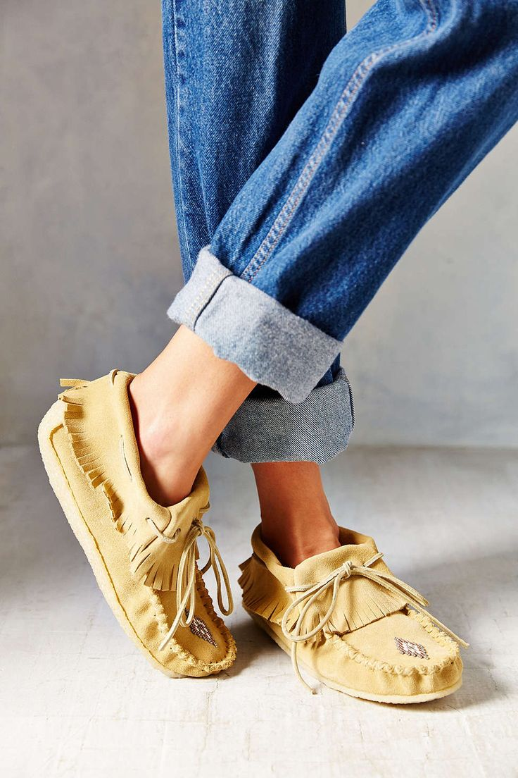 Manitobah Trapper Moccasin - boyfriend jeans and mocs...It doesn't get much comfier than that!