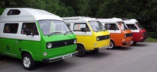 Multi-coloured vans