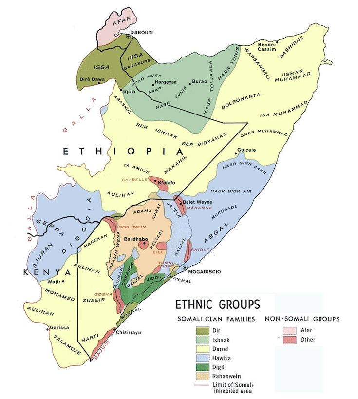 Distribution of Somali Clans and non-Somali minorities in Greater Somalia - The Reasons Behind the Collapse of a Nation