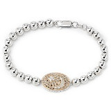 Eva LaRue Sterling Silver & Gold Plate Diamond Star Bracelet
