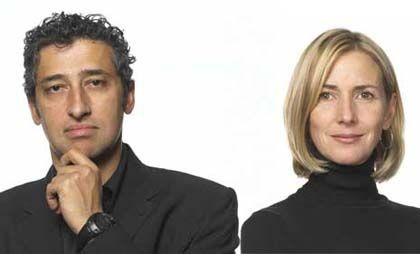 Hani Rashid and Lise Anne Couture, founders and principals of Asymptote Architecture
