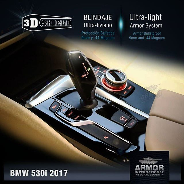 BMW 530i / Blindado con 3D-Shield exclusivo de Armor International. Bulletproof Armoring vehicles.  Luxury armored cars. www.armorinternational.com 📞 (+57)1 360 7166  #armor #armorbmw #bmw530i #blindajesdevehiculos