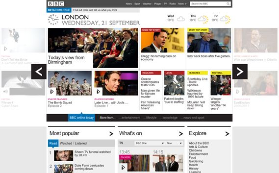 Creative Review - BBC unveils new beta homepage
