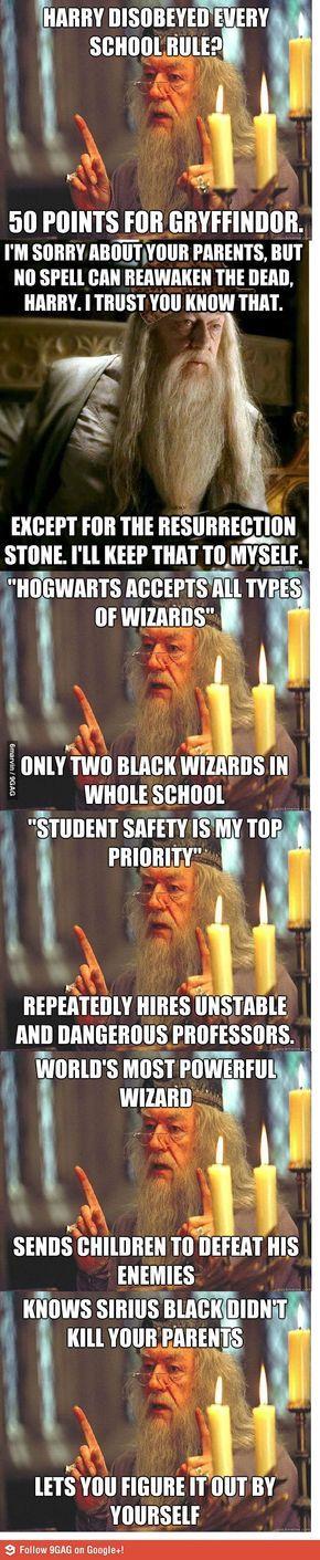 Dumbledore, the master troll.