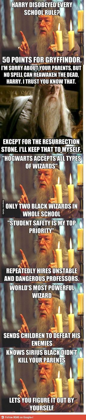 Dumbledore, the master troll.