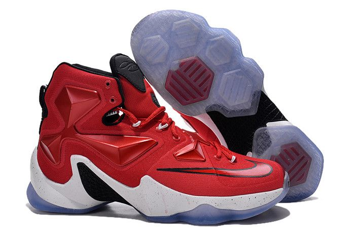 "innovative design d6756 9ed51 Nike LeBron 13 ""On Court"" University Red White-Black-Laser Orange 807219-610"