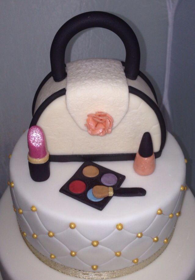 Fashion Handbag purse & makeup cake topper... All edible!