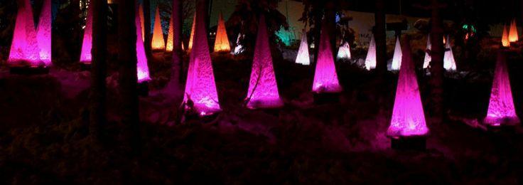Lichter von SantaPark in Rovaniemi