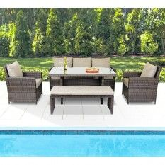 Valencia 5 Piece Lounge & Dining Setting VALEN5PCLD $1899 @ target