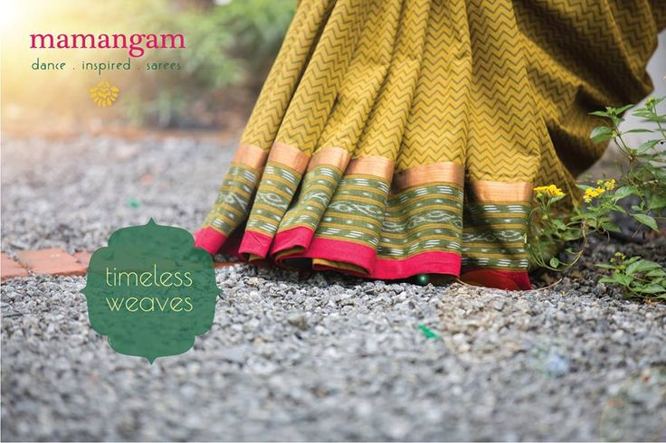 Mamangam - Dance inspired sarees by Mantra, Vibrant handloom sarees with block-printed blouse pieces! In stores now!#saree