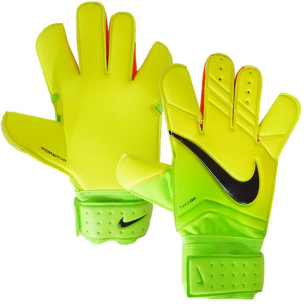 Nike GK Vapor Grip 3 Football Glove is made with Grip3 technology for optimal control. Foam at the palm helps absorb shot impact and enhances grip, while the ho