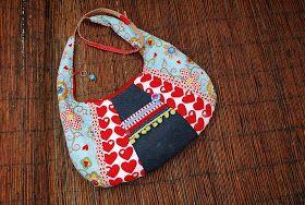 Für den Sommer, oder der der es noch werden will (hoffentlich), habe ich mir eine bunte Tasche genäht ;-) Eine Kombi aus Lieblingsstöf...