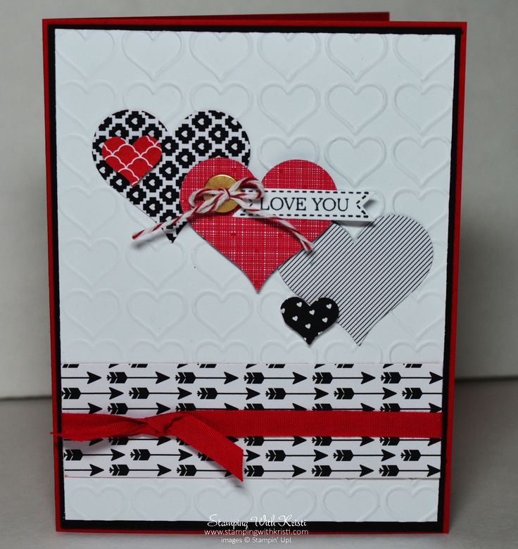 Stampin Up Stacked With Love Valentine card by Kristi @ www.stampingwithkristi.com