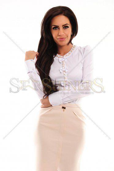 LaDonna Necklace Bows White Shirt