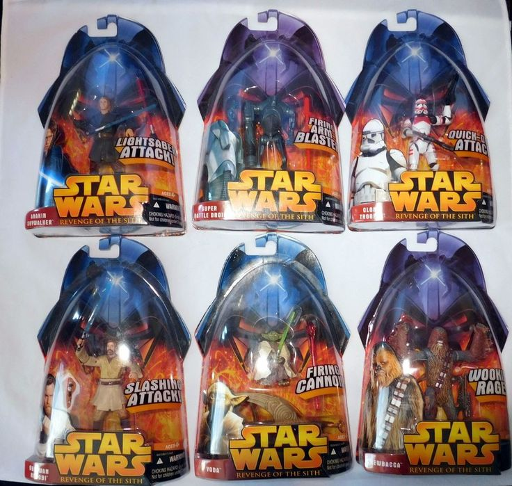 Star Wars ROTS Revenge of the Sith 80 Figure Lot Complete Some Variants & Extra! #Hasbro