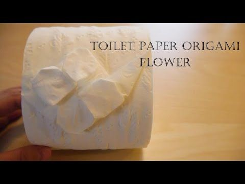 How to make Toilet Paper Origami Flower - YouTube