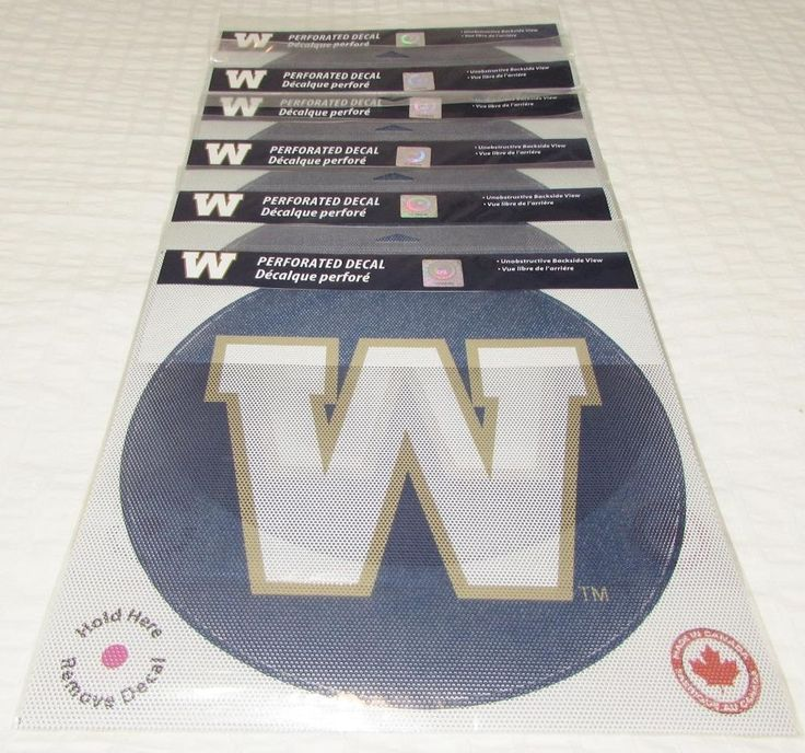 CFL Winnipeg Blue Bombers Perforated Football Window Decal Stickers NEW SEALED