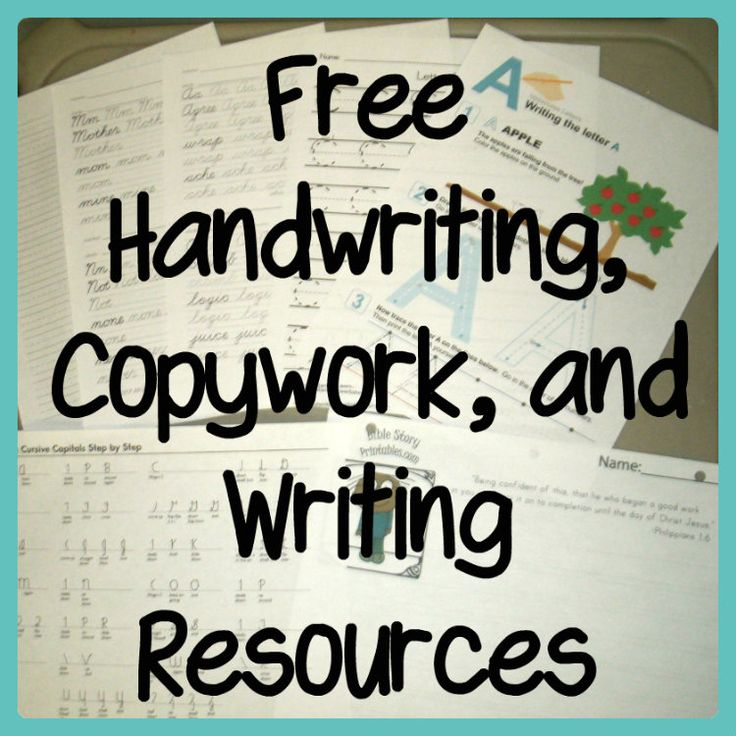 Free Handwriting, Copywork, and Writing Resources