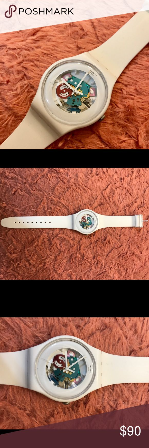 Swiss White Swatch Ladies Watch Swatch model #SR1130SW, in excellent condition. no scratches. battery is working perfectly. No box included. from pet free and smoke free home. FEEL FREE TO PLACE AN OFFER. Swatch Accessories Watches