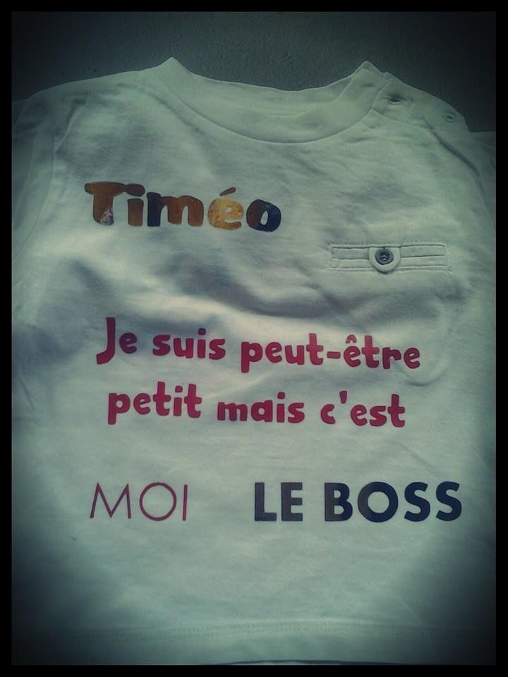 Petit mais c'est moi le Boss - Tee-shirt bébé flex