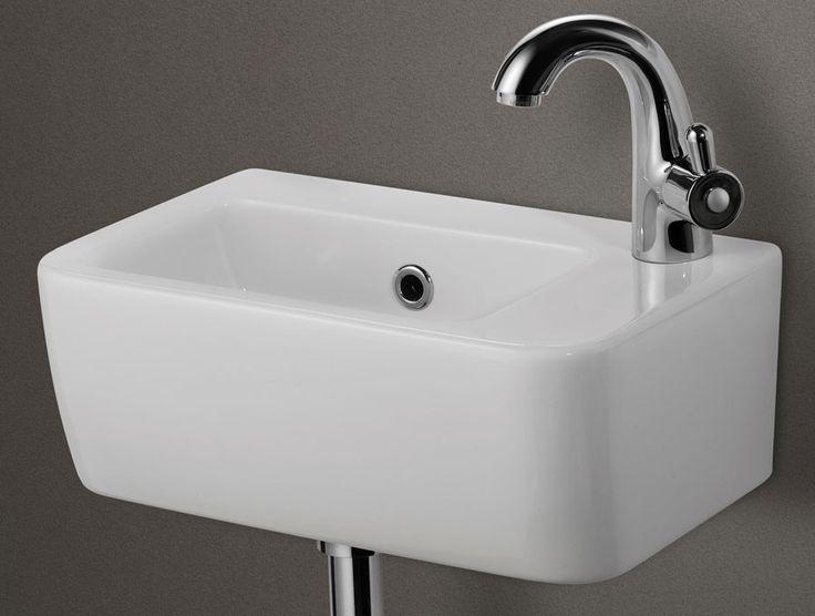 Alfi Brand Ab101 Small White Wall Mounted Ceramic Bathroom Sink