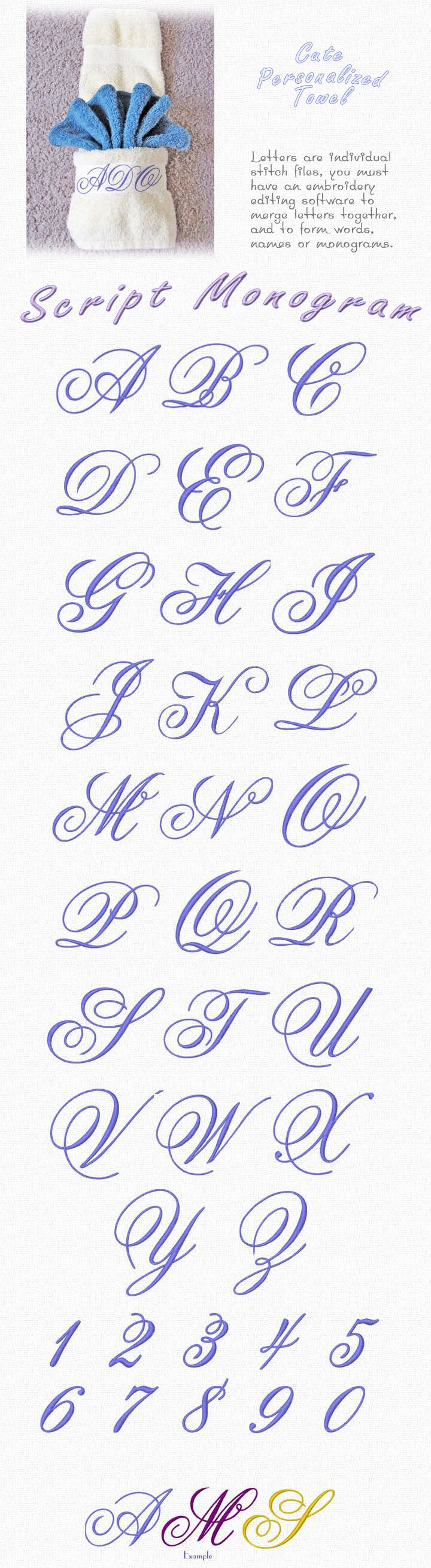 Classic elegance if what you find in these delicate capital letters for monogramming. The designs are available to fit both 4x4 and 5x7 hoops. Thread and Bobbins Available here!