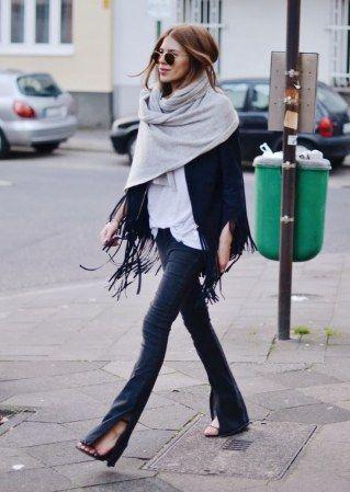 Schal asymmetrisch tragen