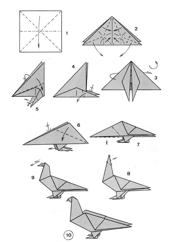 25 unique origami animals ideas on pinterest origami for Origami bird instructions
