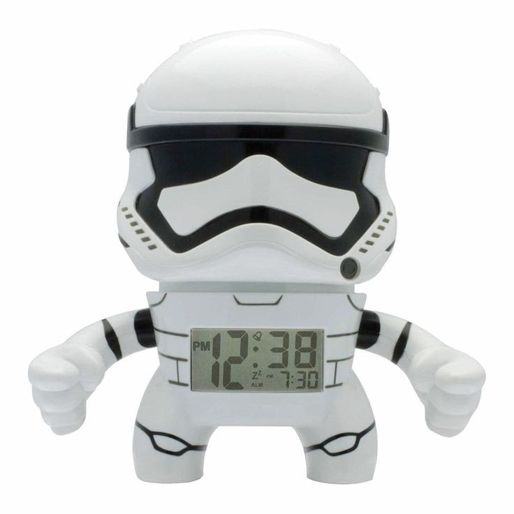 Star Wars Alarm Clock Nightlight - Stormtropper, White (Plastic)