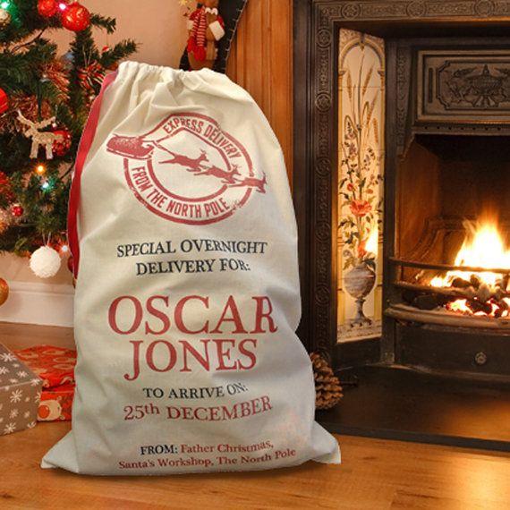 Personalised Heirloom Christmas Santa Sacks / by Scriptingle, £18.00