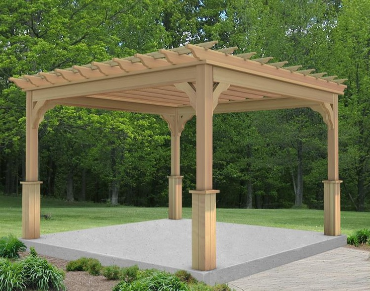 10 39 X 10 39 4 Beam Cedar Pergola Shown With Clear Stain