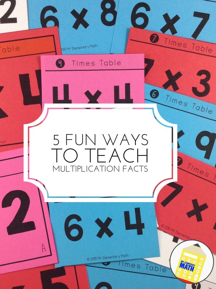 Learn 5 FUN ways to teach multiplication facts and grab several FREE multiplication games!