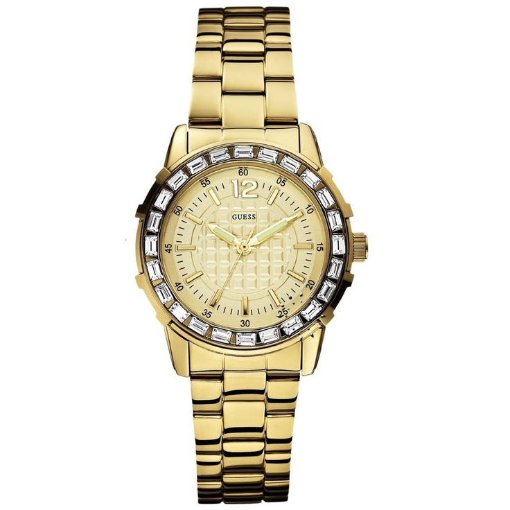 GUESS Crystal Gold Total Stainless Steel Bracelet  Μοντέλο: W0018L2  Τιμή: 169€  http://www.oroloi.gr/product_info.php?products_id=29277