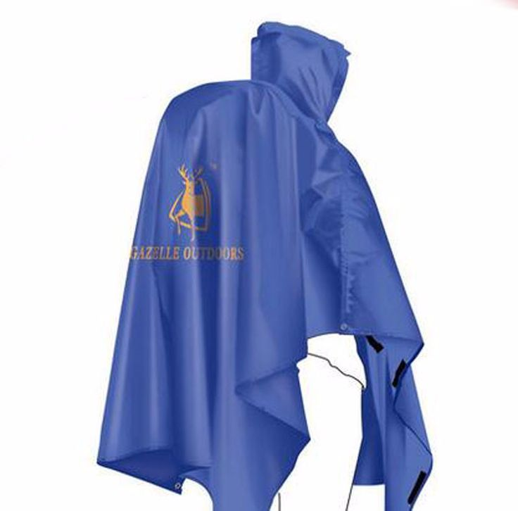 3 IN 1 Waterproof Cape Groundsheet Shelter Festival Poncho Outdoor Camping Hiking Backpack Rain Cover Raincoat Rain Cape Green
