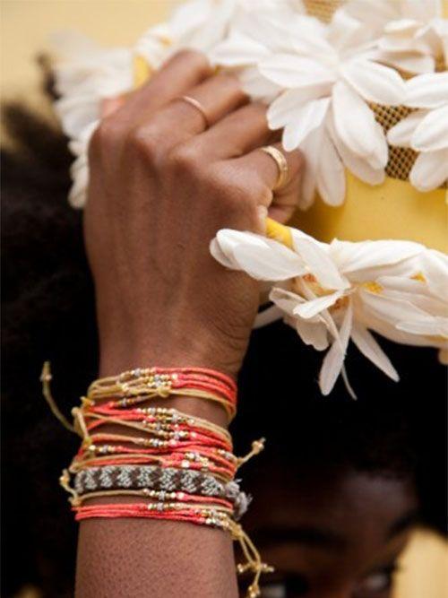 #veronikamaine #brightvintagefloral #inspiration #summer13 #bracelets #jewellery #flowers