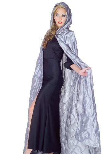 Amazon.com: Underwraps Witch Queen Costume Silver Gothic Masquerade Cape Cloak: Clothing