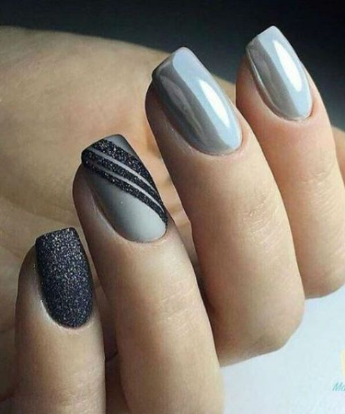 Amazing Dark to Light Grey Nail Art Designs to Rock This ...