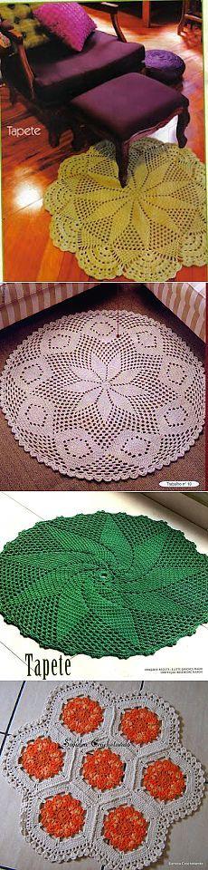 Круглые коврики крючком. Схемы. / crochet103.blogspot.ru
