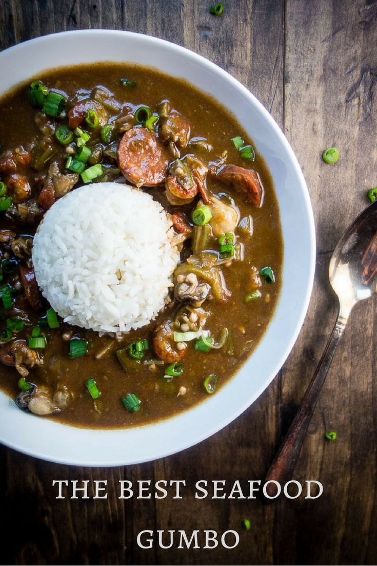 This Louisiana Seafood Gumbo with Okra is packed full of seafood including shrimp, crawfish, oysters, crab and andouille sausage - plus it only takes 40 minutes to make!    new orleans style gumbo | hearty gumbo | southern style gumbo | best seafood gumbo | easy gumbo recipe | quick gumbo recipes | creole gumbo | crab gumbo | oyster gumbo | sausage gumbo | dark roux | how to make gumbo | learn to make gumbo | one pot meals via @Went Here 8 This