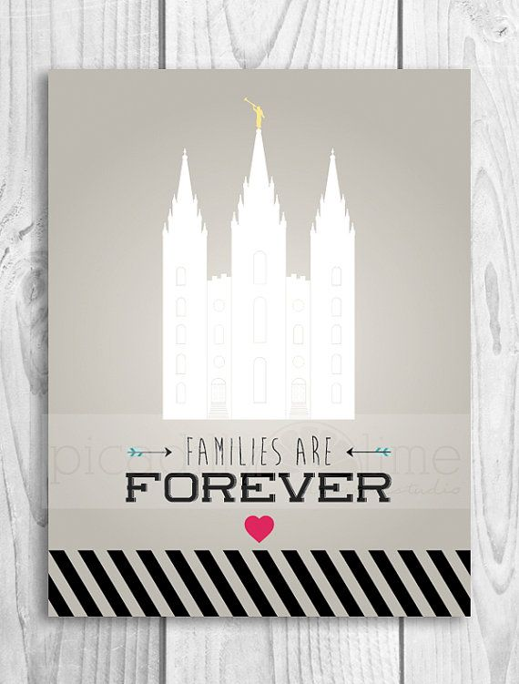 LDS Primary 2014 Theme Families Are Forever print by PicadillyLime