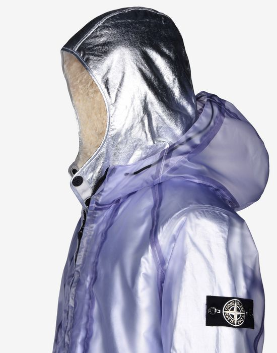 2015 F/W Poly Cover Composite + Interno Staccabile in Poly Fur Argento Giaccone | Stone Island