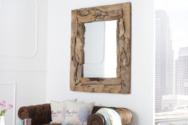 Nástenné zrkadlo TRIBET 120 cm - prírodná
