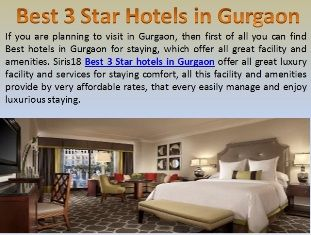 Staying At Siris18 Best 3 Star Hotels In Gurgaon Suitable Price