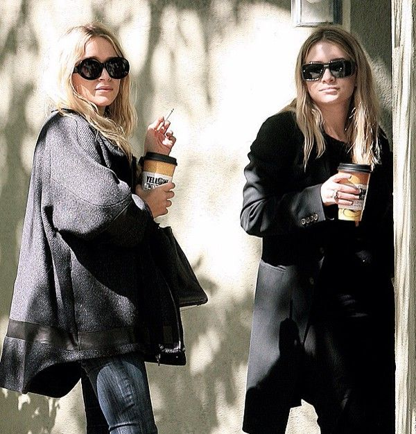 Mary-Kate and Ashley Olsen out in West Hollywood. #style #fashion #olsentwins