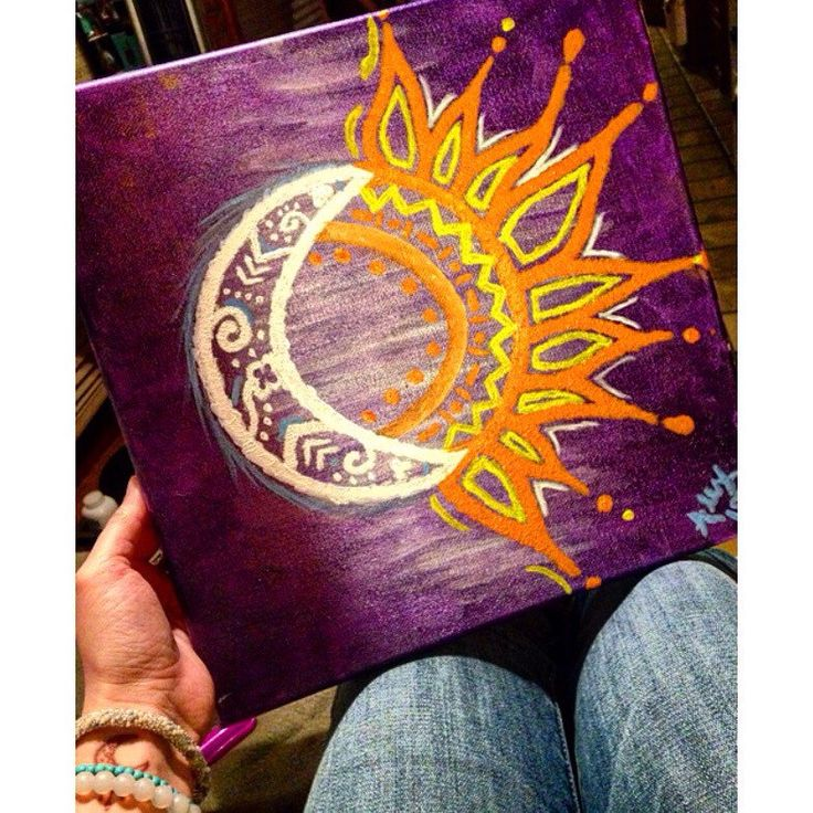 A personal favorite from my Etsy shop https://www.etsy.com/listing/262527300/sun-moon-canvas-painting