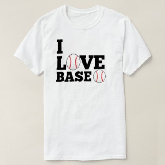 I Love Baseball White Custom Shirts //Price: $15.50 & FREE Shipping //     #hashtag3